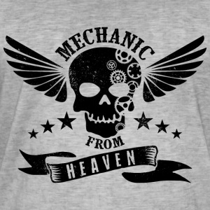 Mechanic From Heaven - Mannen Vintage T-shirt