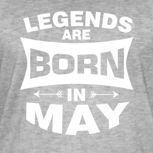 Legends are born in May - Men's Vintage T-Shirt