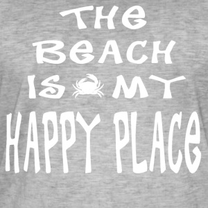 The Beach is my Happy Place - Men's Vintage T-Shirt