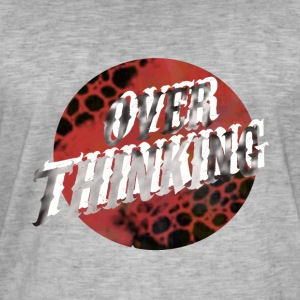 Over Thinking - Vintage-T-skjorte for menn