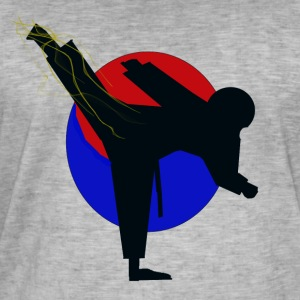 Taekwondo fighter design - Herre vintage T-shirt
