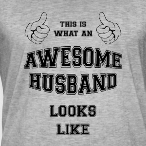 AWESOME HUSBAND - Vintage-T-skjorte for menn