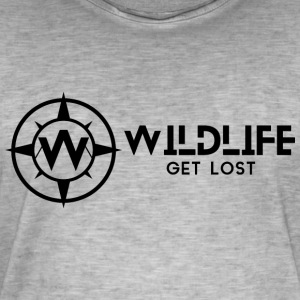 LOGO WRITTEN AND WILDLIFE - Men's Vintage T-Shirt