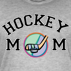 hockey Mom - Vintage-T-shirt herr