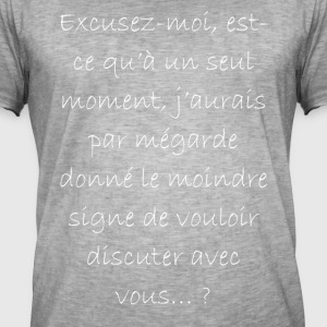 excusez moi... - T-shirt vintage Homme