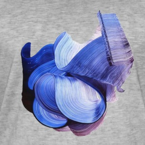 Abstract Brush - Mannen Vintage T-shirt