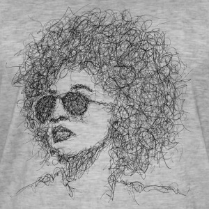 Afro Scribble - Mannen Vintage T-shirt
