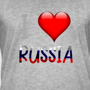 I love Russia Russian Russian Shirt design - Men's Vintage T-Shirt