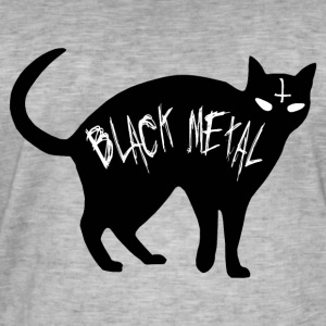 Cat Black Metal - Black Metal Cat - T-shirt vintage Homme