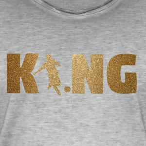 KING Fotball! Fotball! Ball! Gave! - Vintage-T-skjorte for menn