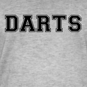 DARTS - lettering - Men's Vintage T-Shirt