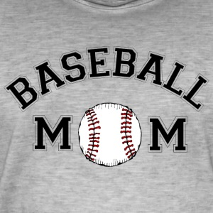 baseball Mom - Vintage-T-shirt herr