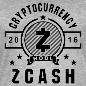 ZCash Retro Svart - Vintage-T-skjorte for menn