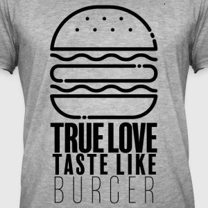 burger Lover - Vintage-T-skjorte for menn