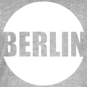 Berlin City - Mannen Vintage T-shirt