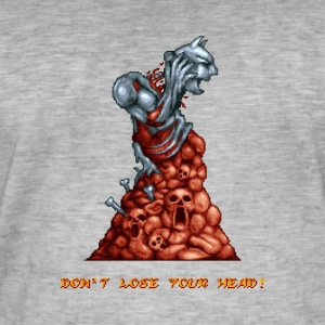 Pixelart Graveyard Boss Enemy - Vintage-T-skjorte for menn