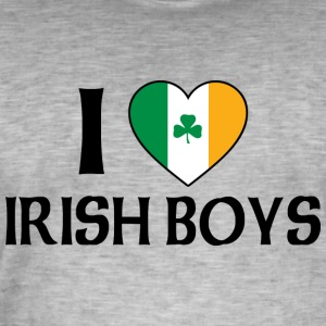 I Love Irish Boys - Men's Vintage T-Shirt