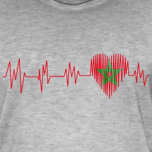 Morocco Morocco المغرب Heart pulse heart beat - Men's Vintage T-Shirt