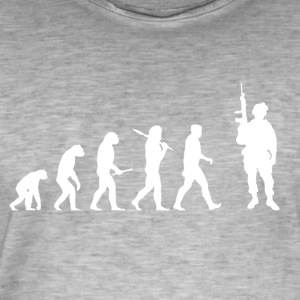 Evolution Soldier! Soldat! Warrior! Warriors! hær - Herre vintage T-shirt