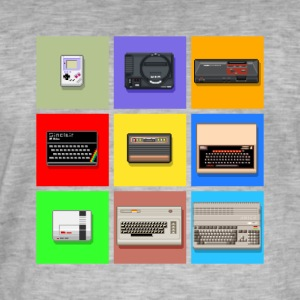 Pixel Retro Gaming Machines Squares - Mannen Vintage T-shirt