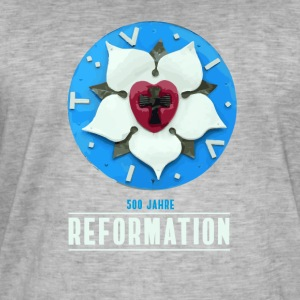 luther rose Reformation 500 Kirchentag Thesen bete - Männer Vintage T-Shirt