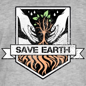 saveearth - T-shirt vintage Homme