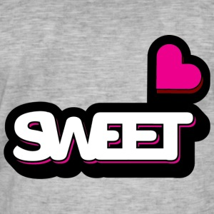 Sweet - Vintage-T-skjorte for menn