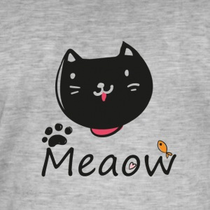 Meaow2 - Camiseta vintage hombre