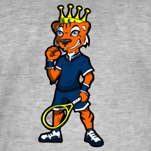 tennis kong - Vintage-T-skjorte for menn
