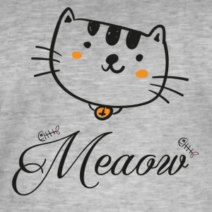 Meaow - Mannen Vintage T-shirt