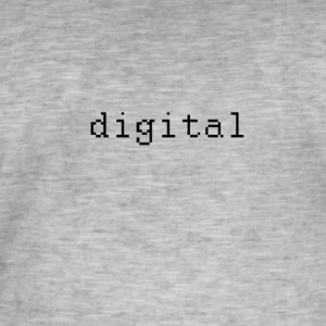 digital - Herre vintage T-shirt
