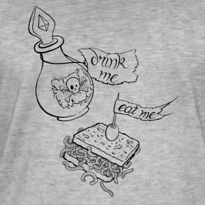 Eat me drink me taste of ink tattoo design - Men's Vintage T-Shirt