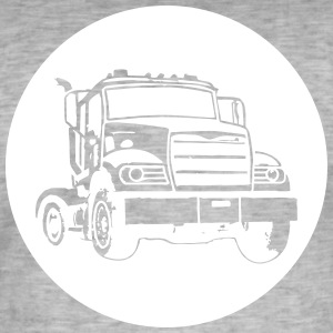 camions routiers - T-shirt vintage Homme