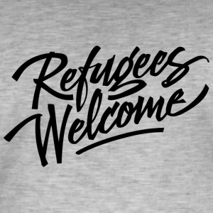 refugees welcome - Männer Vintage T-Shirt