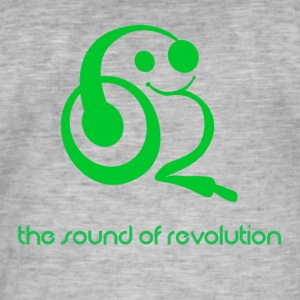 The sound of revolution - Maglietta vintage da uomo