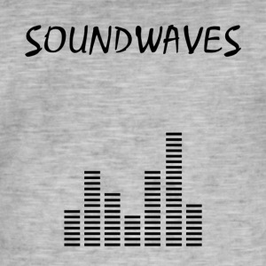 Soundwaves - spektrum - Herre vintage T-shirt