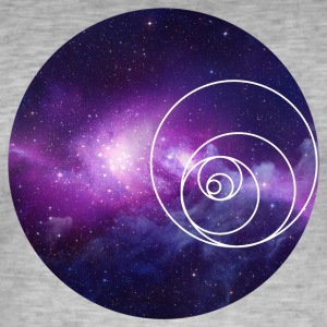 Galaxy Circle - Vintage-T-skjorte for menn