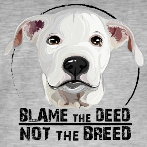 DOGO ARGENTINO blame the deed - Men's Vintage T-Shirt