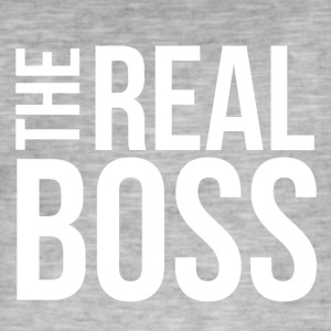 THE REAL BOSS - Mannen Vintage T-shirt