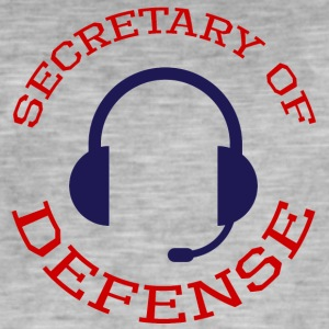 Super Bowl / Football: Secretary Of Defense - Men's Vintage T-Shirt