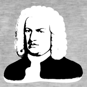 Johann Sebastian Bach abstract in black and white - Men's Vintage T-Shirt