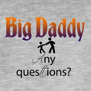 Big Daddy her - Vintage-T-skjorte for menn