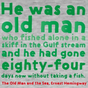 THE OLD MAN AND THE SEA - Männer Vintage T-Shirt