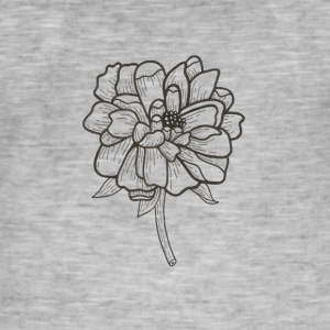 Flower Power - Vintage-T-skjorte for menn