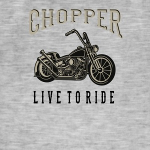 chopper - Herre vintage T-shirt