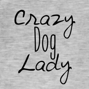 Crazy hund Lady - Vintage-T-skjorte for menn