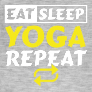 Eat Sleep YOGA GJENTA - Vintage-T-skjorte for menn