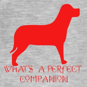 dog a perfect companion - Men's Vintage T-Shirt