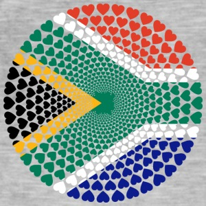 South Africa South Africa Love HERZ Mandala - Men's Vintage T-Shirt