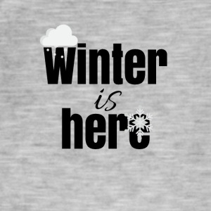 De winter is hier - Mannen Vintage T-shirt